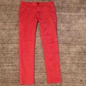 Coral Skinny Jeans